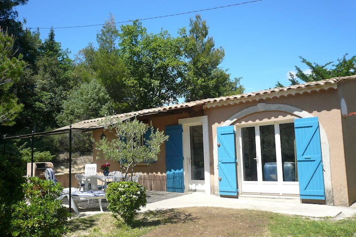 Typical house of South-East France with blue shutters