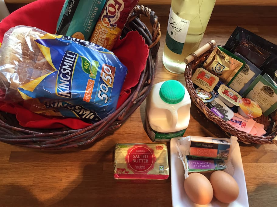 A typical welcome pack