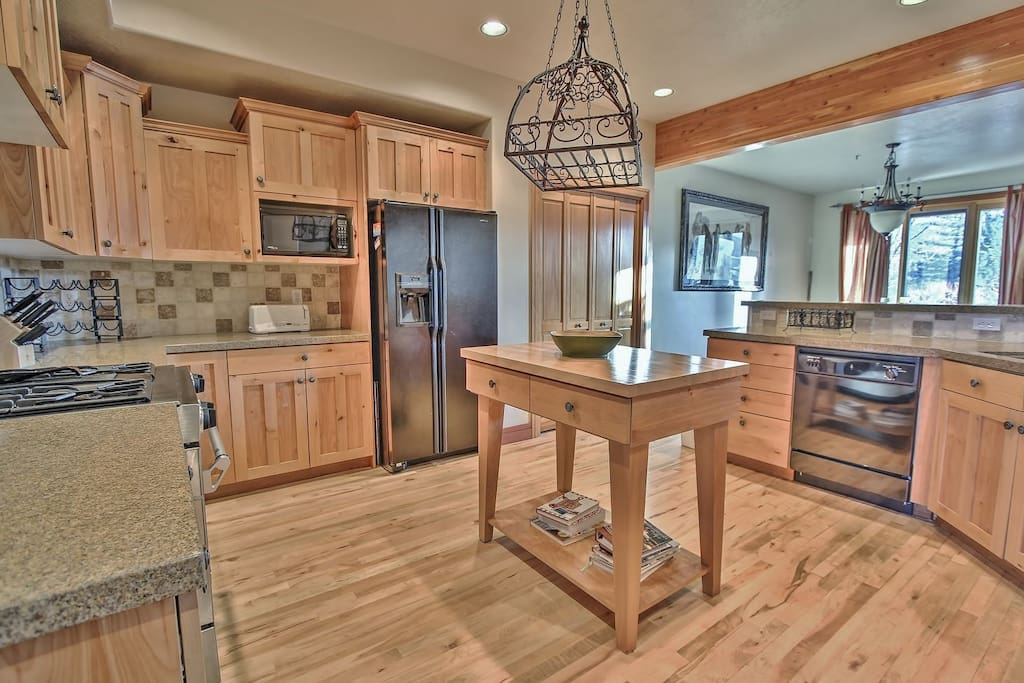 Fully Equipped Kitchen with Stainless Steel Appliances-Park City Park Meadows Retreat