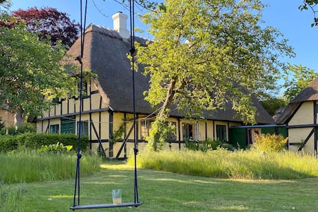 Protected thatched timberframe house