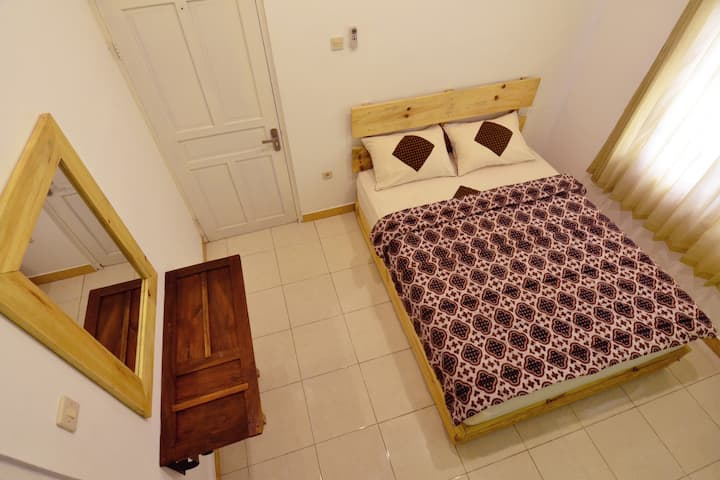 Happy Buddha Double Room with Private Bathroom(AC)
