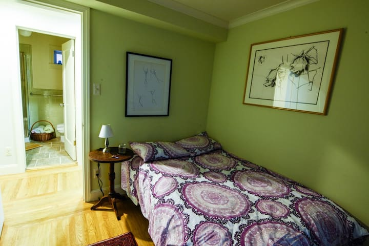 Private bedroom and bathroom in single family home