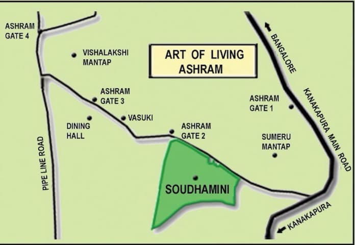 Art of Living Ashram : 1BHK @ Soudhamini Apartment