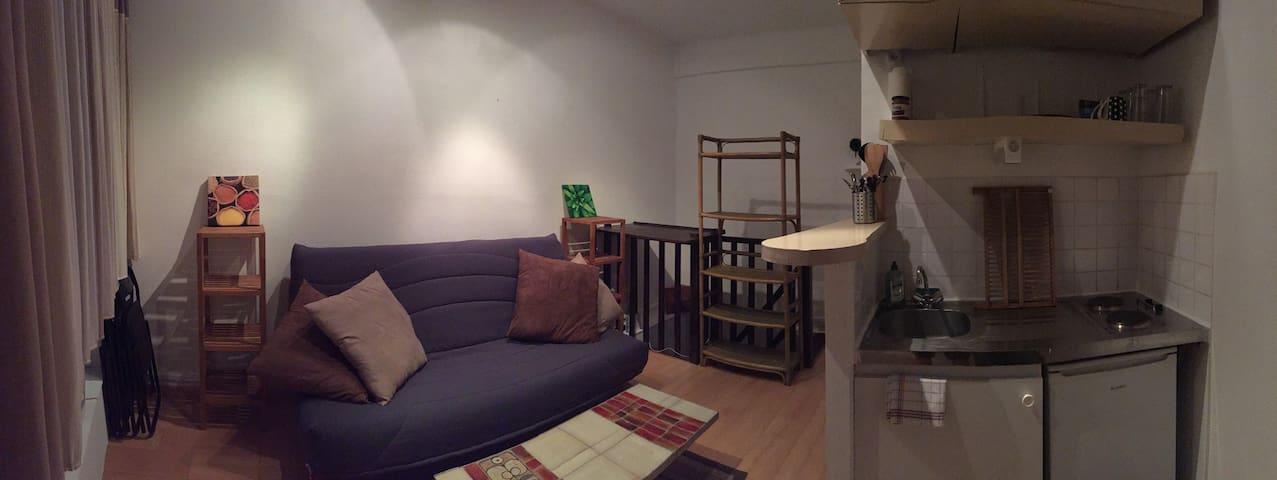 Appartement meubl 30m2 nantes bord de l 39 erdre wohnungen for Appartement meuble nantes