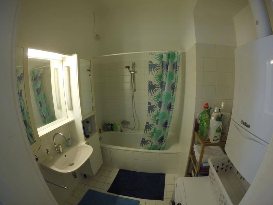 Bathroom  (Toilet is in a seperated room)