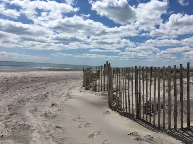 Beautiful beach... this picture was taken in early April, a little chilly for sunbathing, but a necessary stop to breathe in the salty air and unwind. Ponquogue Beach, $25 per car (for day pass), from Memorial Day to Labor Day.