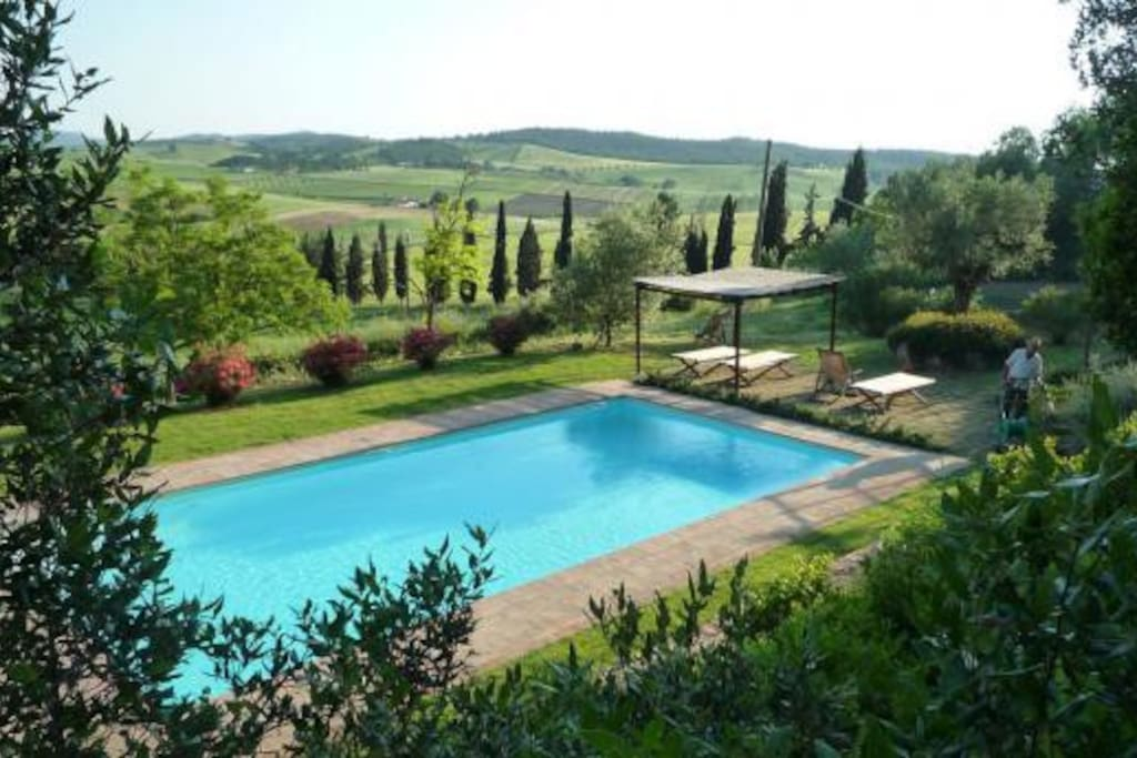 The pool enjoys marvellous views