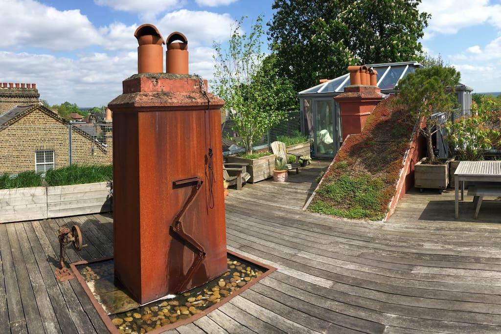 Roof Garden Water Feature