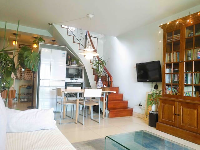 Charming Loft Apartment with Terrace in Beijing