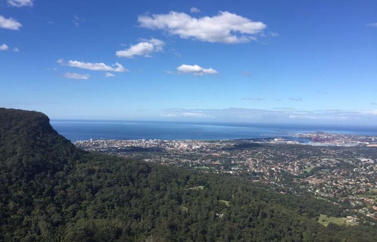 View of the Illawarra from Mt Keira