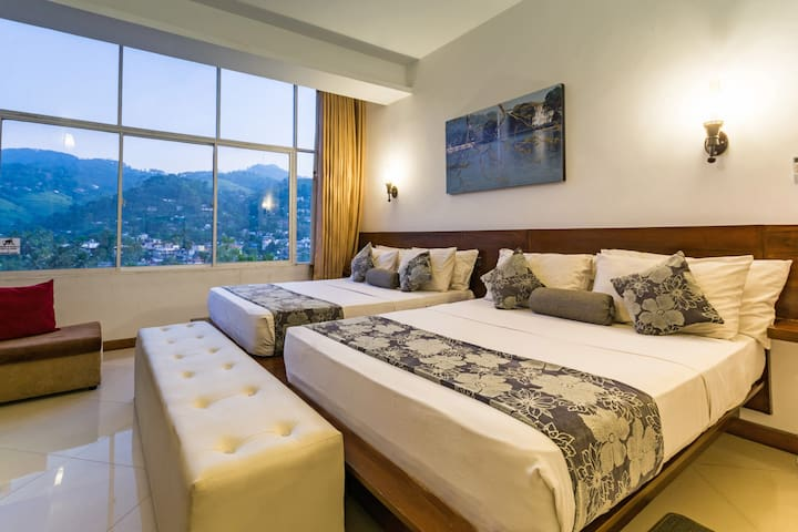kandy city stay-family room with mountain view