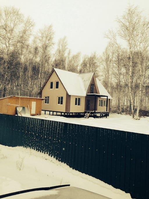 Апарт-отель зимой