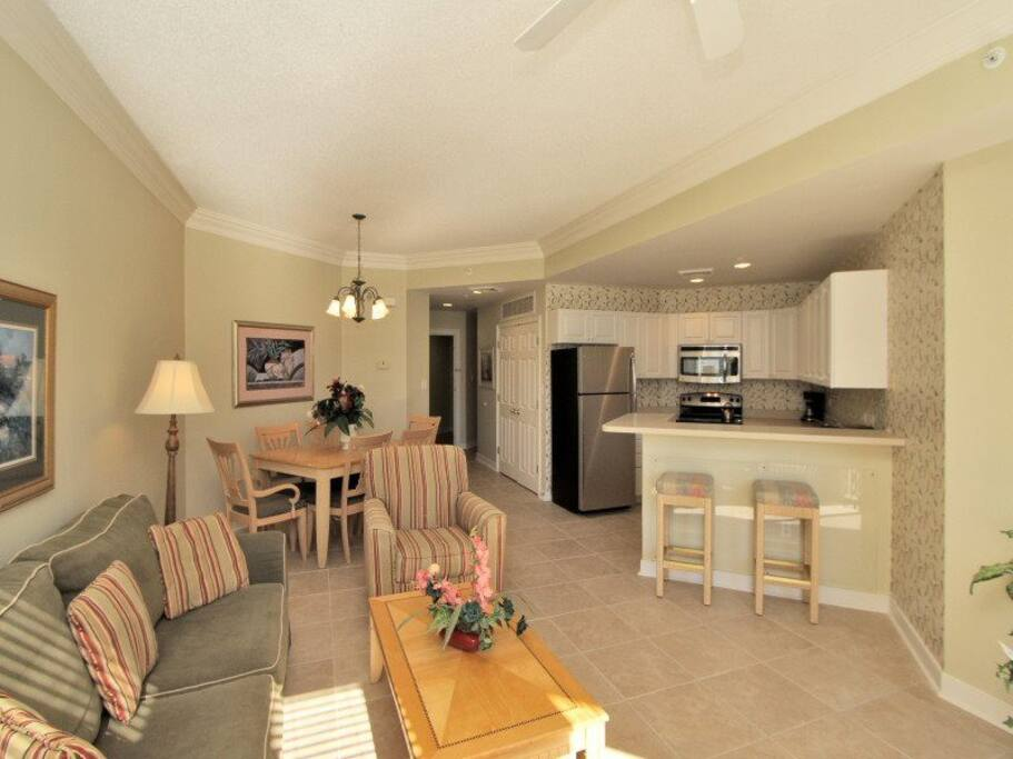 Dining Area with Seating for Six at 2104 Sea Crest