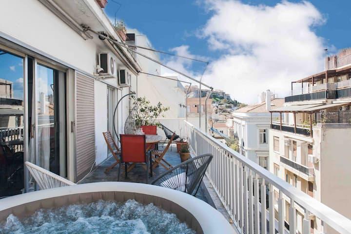 Plaka's Masterpiece & Big Balcony & Acropolis View