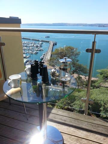 Panoramic Sea views Luxury 2 bed flat, Torquay