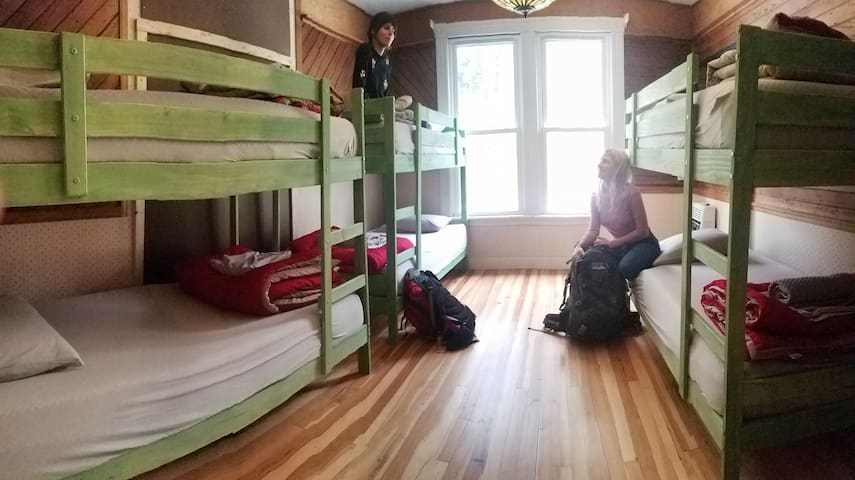 """""""Lower Bunk"""" in Mixed Dorm at Smoky Mt. Hostel"""
