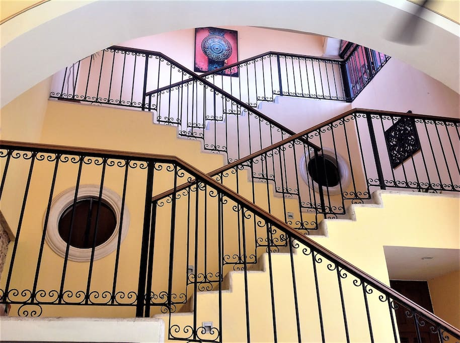 Stairway to the second level. A WORK OF ART!