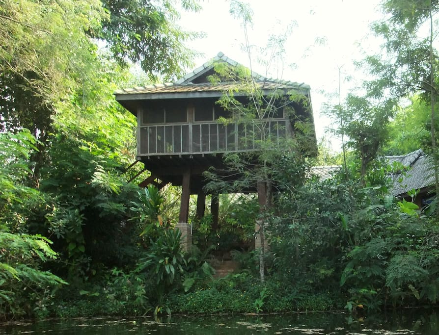 Khilek Pavilion: View from pond