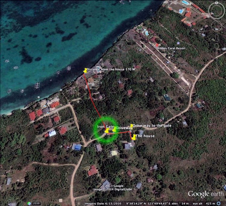 Map of the location. 170 meters from the water. Fully fenced secured area,