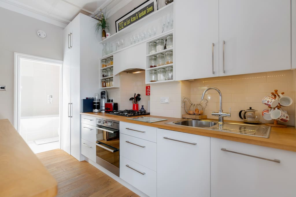 The bespoke kitchen space (complete with all the mod cons)
