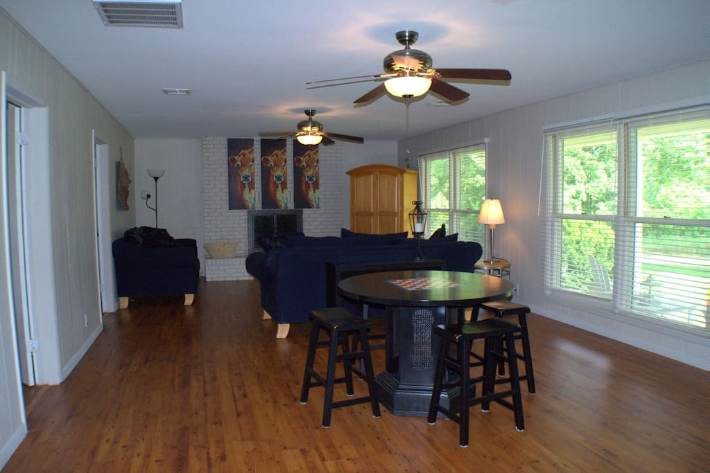 Large Living area and gaming room