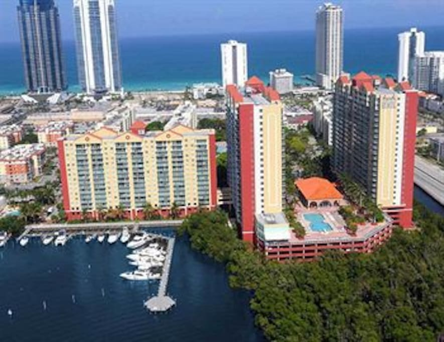 Apartment Complex Sky View-Ocean and Bay Views!