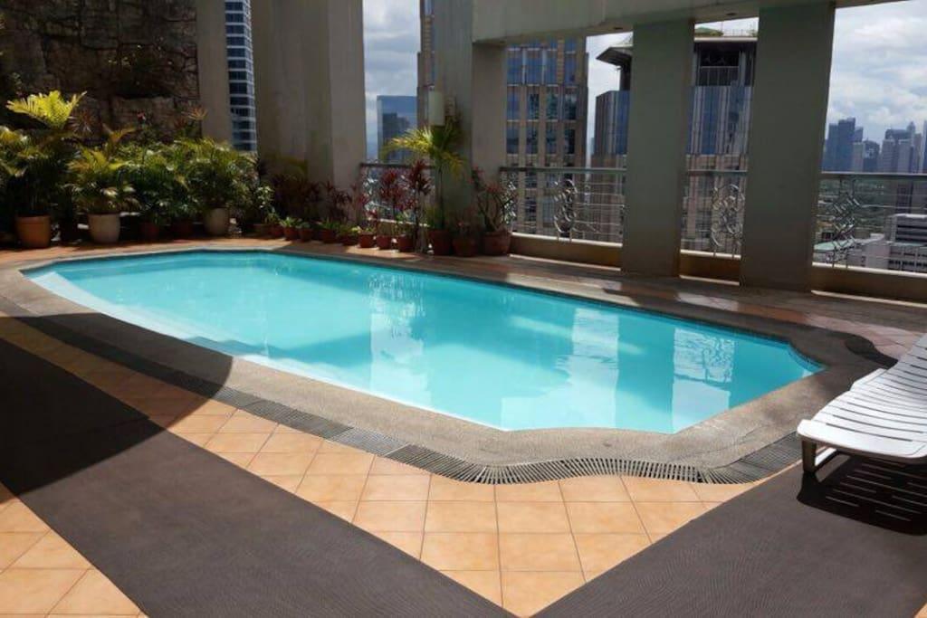 guest can swim a facility of the condominium