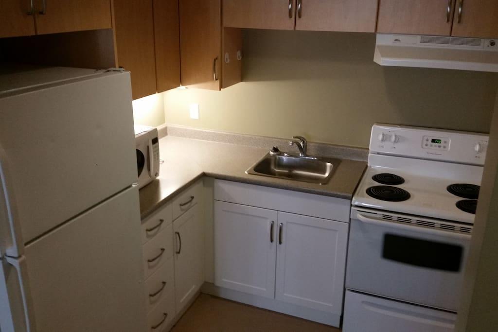 Private 2 bedroom suite kitchen