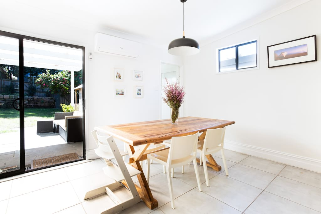 Enjoy the open plan living/dining that opens into the alfresco area and backyard.