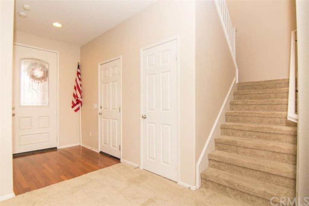 Front entrance. Bedroom & bath are directly to the left of front door
