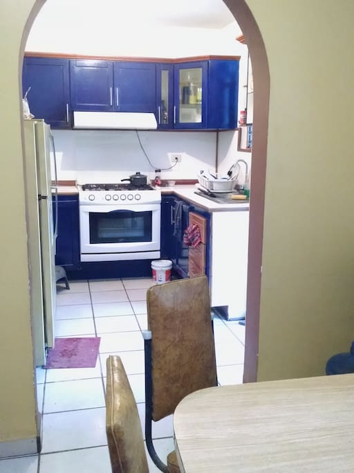 From the dining room looking  into the kitchen