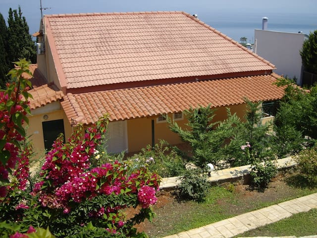Villa close to the sea with panoramic view - Melissi - Villa