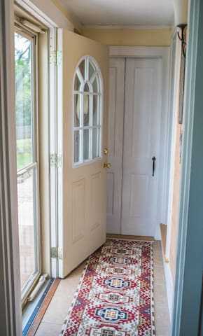 Your Private Keyless entry way. Go right when you enter.