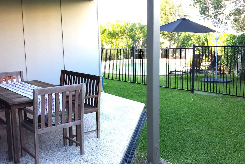 Your own outdoor area outside your bedroom