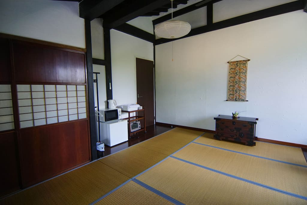 The room, Japanese style, futons and tatamis