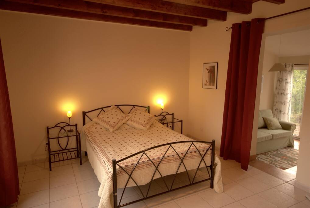 Modern comfortable double bedroom.