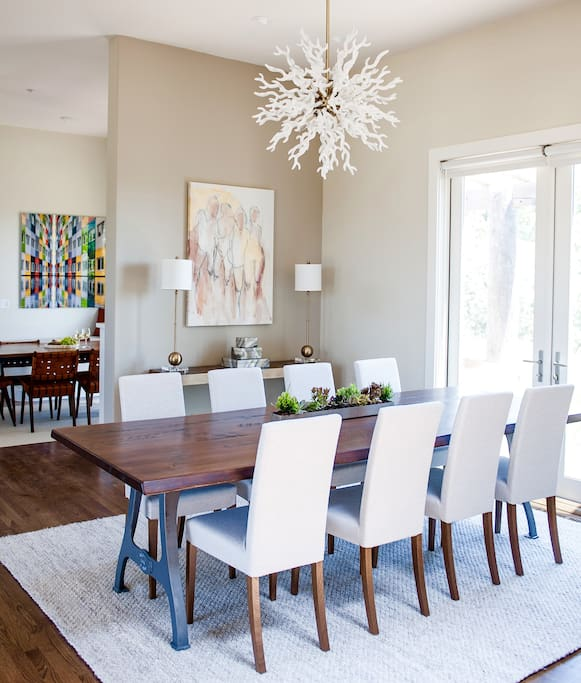 Enjoy a beautiful sit-down meal in the formal living area.