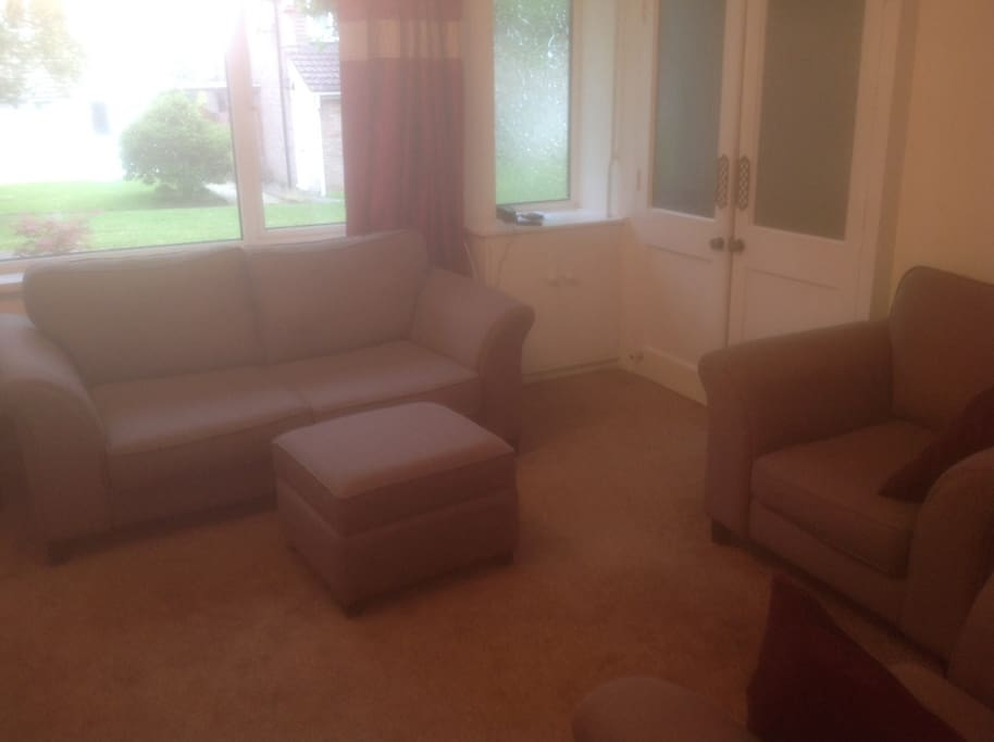 Clean, large lounge with TV, Netflix and DVDS player