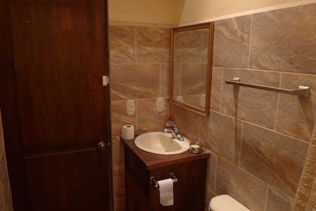 Newly remodeled private bathroom.