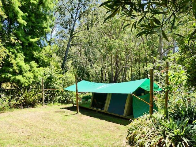 Glamping - Deck-Mounted Safari Tent