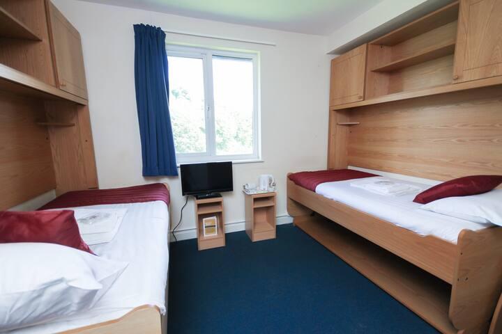 Glasney Standard Twin Room on Penryn Campus