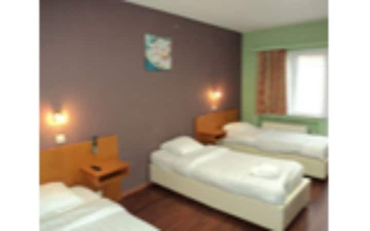 Triple room (1 double bed + single bed or 3 single beds)