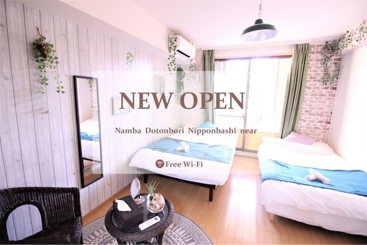 2min is sta!Near Dotonbori&Namba!!Free Wi-Fi!503 - Tennōji-ku, Ōsaka-shi - Apartment