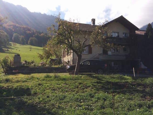 3.5 Zi Whg auf Bauernhof mit Garten - Reutigen - Apartment