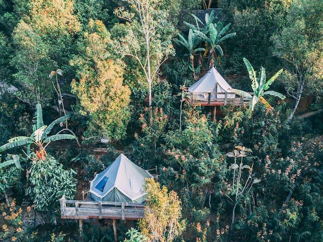 Ekommunity Farmstay - Mountain view tent