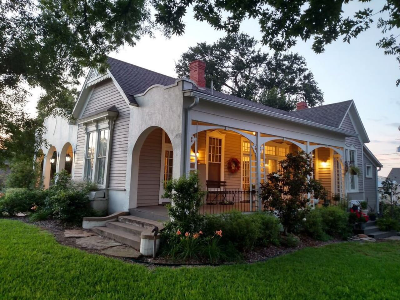 """As seen on Fixer Upper, Season 1, Episode 12 """"A 5th Street Story""""  The home is a mix of converging architectural styles.  Built in 1910, the home mixes Victorian, Art Deco and Mission styles."""