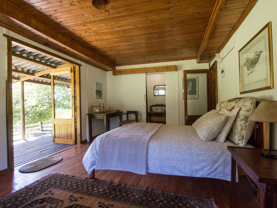 Open the cabin's French doors to fully appreciate the view.
