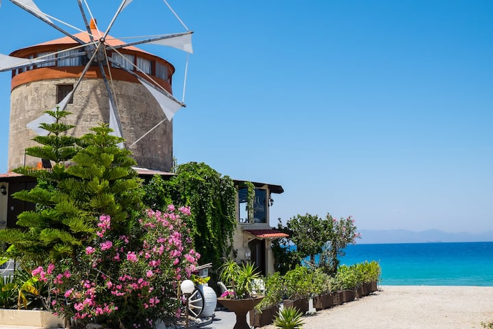 Mythica Tower Mill Villa | A Windmill in Rhodes