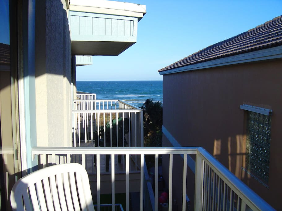 There is only a view from the balcony, but you can see how close the beach is. You're just a few steps away from a full ocean view!