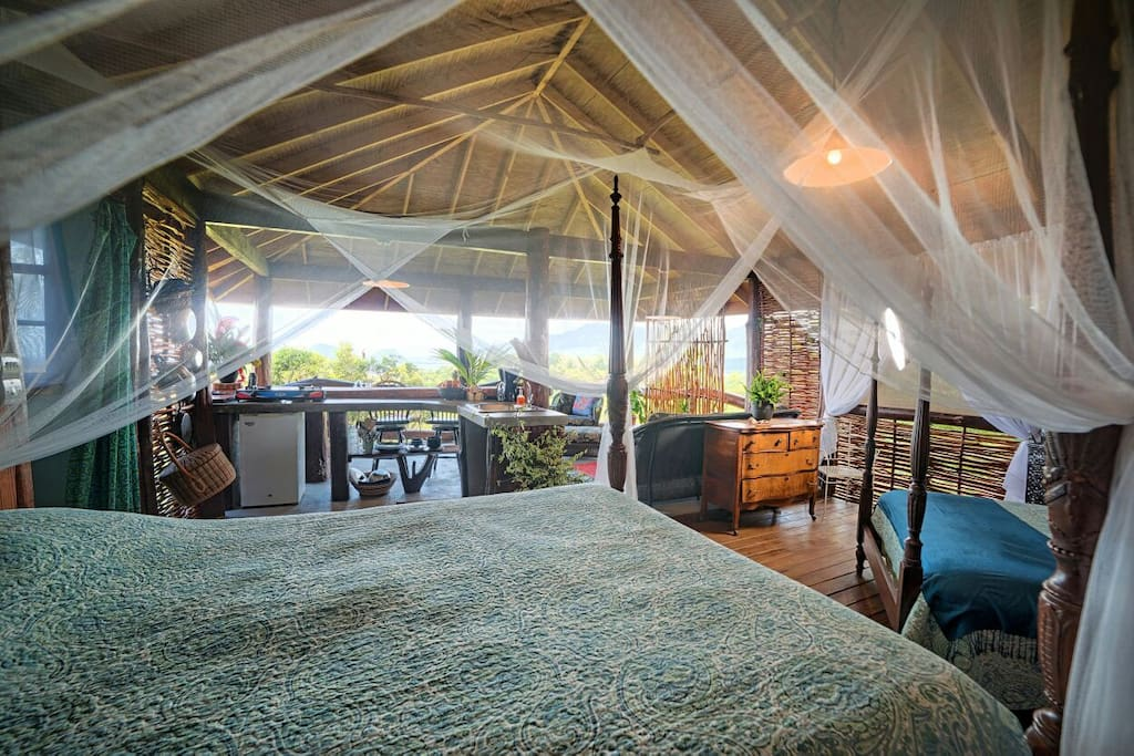 """The bed is incredibly luxurious and you will melt to sleep serenaded by the sounds of the jungle around you.""  Kevin"
